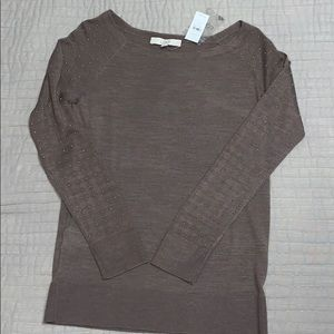 Loft lightweight embellished sweater